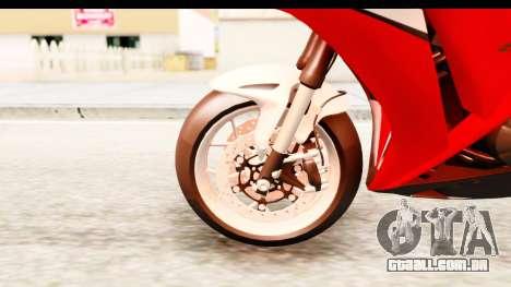 Honda CBR1000RR 2012 para GTA San Andreas vista traseira
