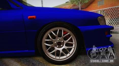 Subaru Impreza WRX STI GC8 1999 v1.0 para GTA San Andreas traseira esquerda vista