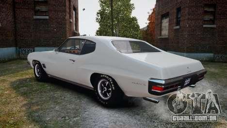 Pontiac LeMans Coupe 1971 para GTA 4 vista direita