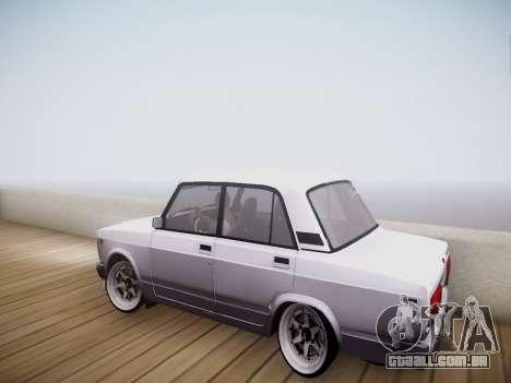 VAZ 2107 Tipo-stance para GTA San Andreas esquerda vista