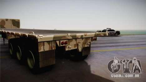 GTA 5 Army Flat Trailer IVF para GTA San Andreas traseira esquerda vista