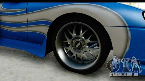 NFS: Carbon Darius Toyota Supra Updated para GTA San Andreas vista traseira