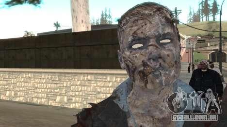 Zombie from Black Ops 3 para GTA San Andreas terceira tela