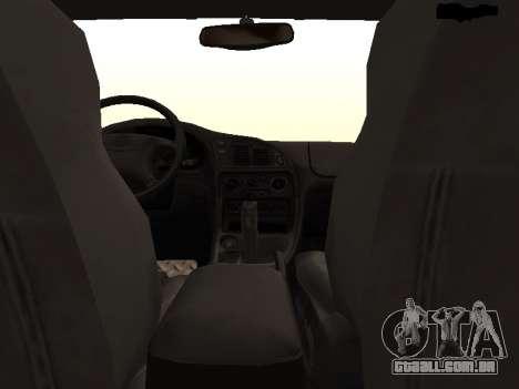 Mitsubishi Eclipse The Fast and the Furious para GTA San Andreas vista interior