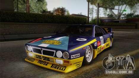 Lancia Rally 037 Stradale (SE037) 1982 IVF PJ1 para GTA San Andreas traseira esquerda vista