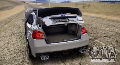 Subaru WRX STI LP400 2016 para GTA San Andreas vista traseira