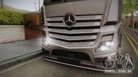 Mercedes-Benz Actros Mp4 4x2 v2.0 Steamspace v2 para GTA San Andreas traseira esquerda vista