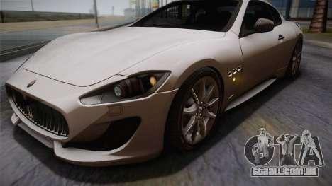 Maserati Gran Turismo Sport para GTA San Andreas vista interior