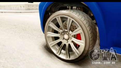 GTA 5 Benefactor XLS para GTA San Andreas vista traseira