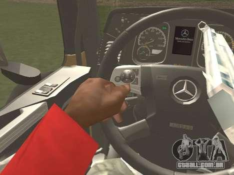 Mercedes-Benz Actros Mp4 6x2 v2.0 Steamspace para GTA San Andreas interior