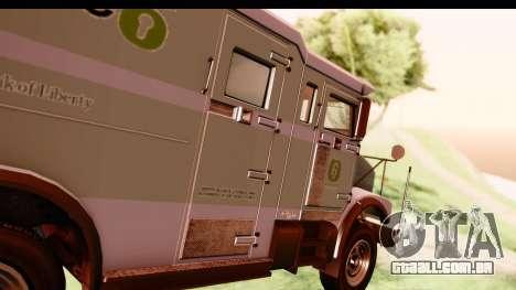 GTA 5 Stockade v2 IVF para GTA San Andreas vista traseira