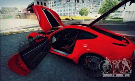 Ferrari F12 Berlinetta para GTA San Andreas vista interior