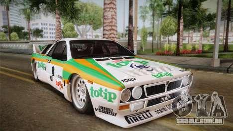 Lancia Rally 037 Stradale (SE037) 1982 HQLM PJ2 para GTA San Andreas traseira esquerda vista