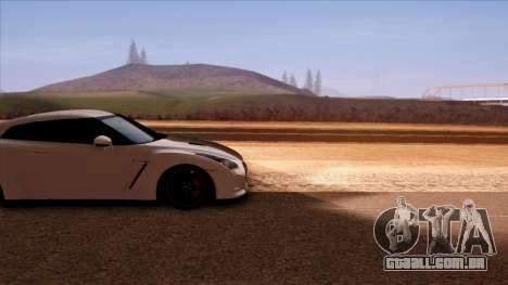 Nissan GT-R R35 para GTA San Andreas vista traseira