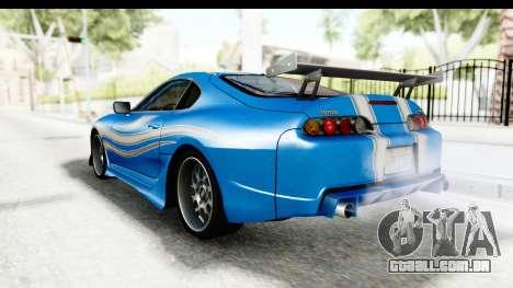 NFS: Carbon Darius Toyota Supra Updated para GTA San Andreas esquerda vista