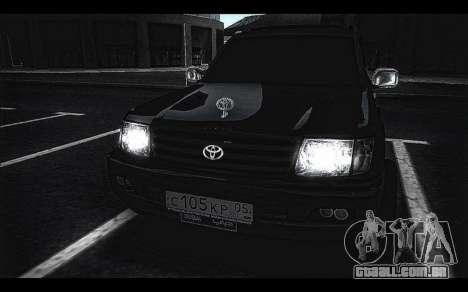Toyota Land Cruiser 105 para GTA San Andreas traseira esquerda vista