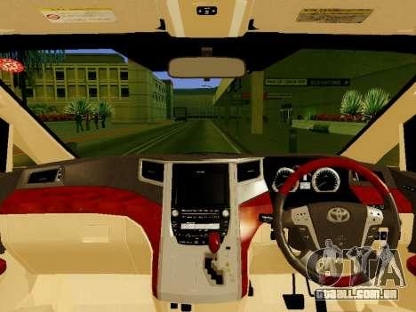 Toyota Alphard Taxi Silver Bird para GTA San Andreas vista direita