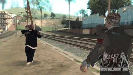 Zombie from Black Ops 3 para GTA San Andreas quinto tela