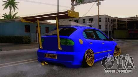 Seat Leon Haur Edition para GTA San Andreas esquerda vista