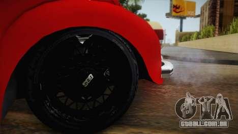 Volkswagen Beetle Escarabajo para GTA San Andreas vista traseira