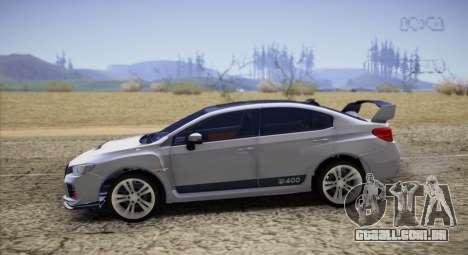 Subaru WRX STI LP400 2016 para GTA San Andreas esquerda vista