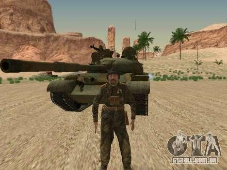 T-62 para GTA San Andreas vista superior