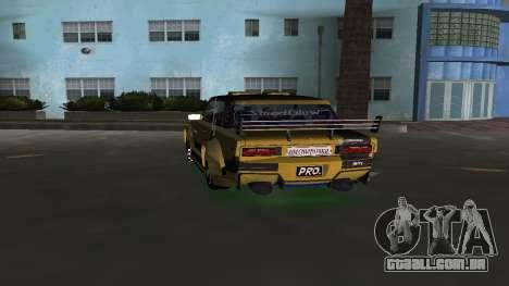 VAZ 2106 Fantasy Art Tunning para GTA Vice City vista traseira esquerda