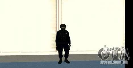 GTA 5 FIB SWAT Blue para GTA San Andreas por diante tela