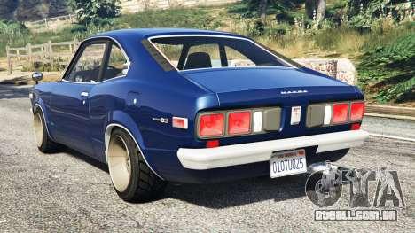 GTA 5 Mazda RX-3 1973 [replace] traseira vista lateral esquerda