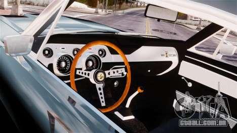 Ford Mustang Shelby GT500 1967 para GTA 4 vista de volta