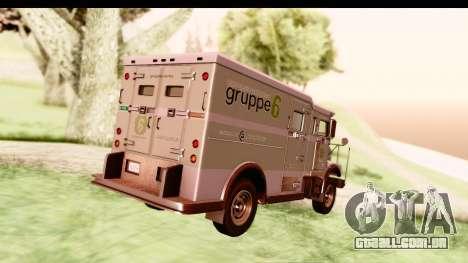 GTA 5 Stockade v2 IVF para GTA San Andreas vista direita