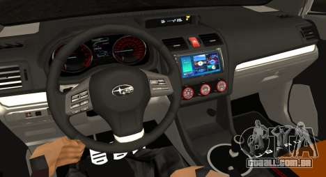 Subaru WRX STI LP400 2016 para GTA San Andreas vista interior