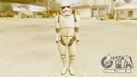 Star Wars Ep 7 First Order Trooper para GTA San Andreas segunda tela