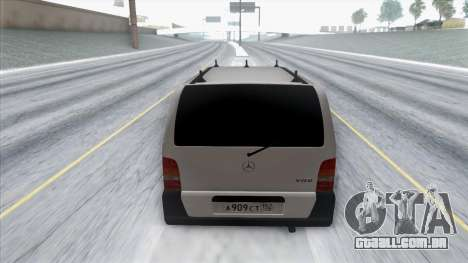 Mercedes-Benz Vito para GTA San Andreas vista traseira