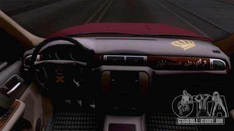 GMC Sierra 2015 para GTA San Andreas vista traseira
