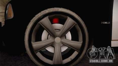 Dodge Charger SRT8 Police San Fierro para GTA San Andreas vista traseira