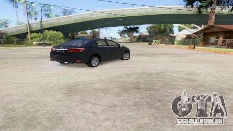 Toyota Corolla 2014 HQLM para GTA San Andreas esquerda vista