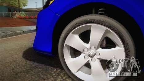 Toyota Camry 2013 para GTA San Andreas vista traseira