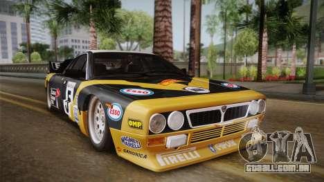 Lancia Rally 037 Stradale (SE037) 1982 IVF PJ2 para GTA San Andreas traseira esquerda vista