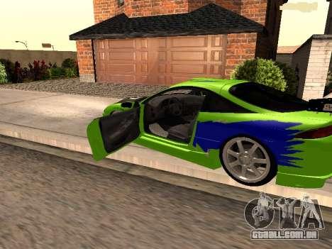 Mitsubishi Eclipse The Fast and the Furious para GTA San Andreas esquerda vista