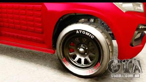 GTA 5 Benefactor XLS Armored IVF para GTA San Andreas vista interior