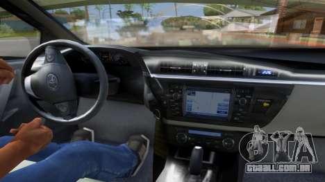 Toyota Corolla 2014 HQLM para GTA San Andreas traseira esquerda vista