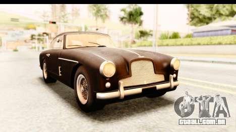 Aston Martin DB2 Mk II 39 1955 para GTA San Andreas traseira esquerda vista