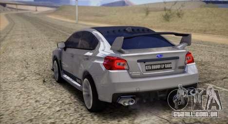 Subaru WRX STI LP400 2016 para GTA San Andreas traseira esquerda vista