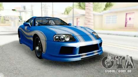 NFS: Carbon Darius Toyota Supra Updated para GTA San Andreas vista direita