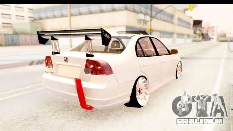 Honda Civic Vtec 2 Berkay Aksoy Tuning para GTA San Andreas esquerda vista