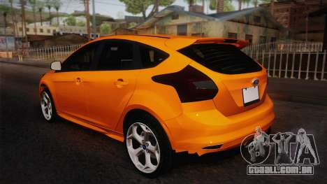 Ford Focus 2012 para GTA San Andreas esquerda vista