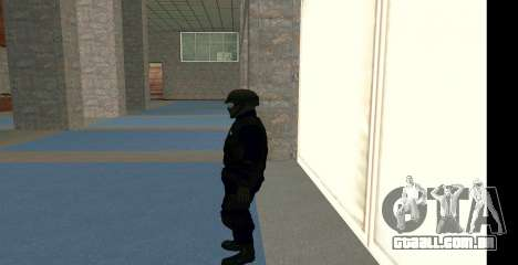 GTA 5 FIB SWAT Blue para GTA San Andreas terceira tela
