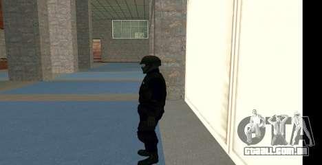 GTA 5 FIB SWAT Blue para GTA San Andreas terceira tela