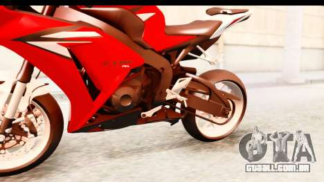 Honda CBR1000RR 2012 para GTA San Andreas vista interior